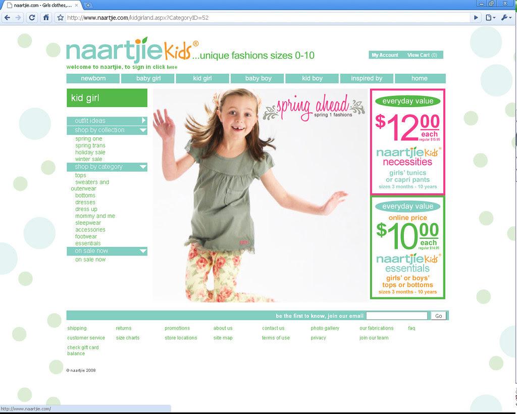 Christina - Naartjie Modeling website