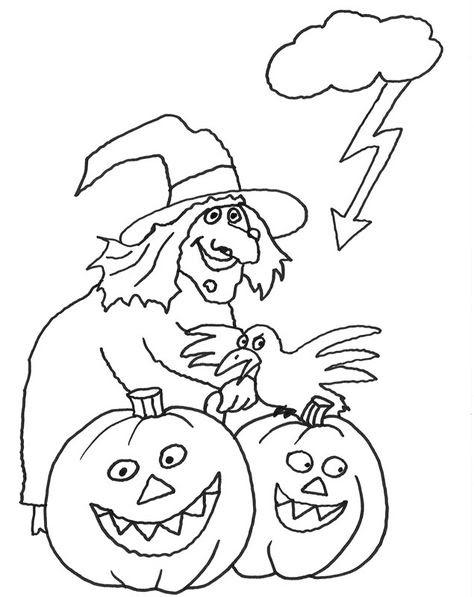 halloween zum ausmalen - ausmalbilder
