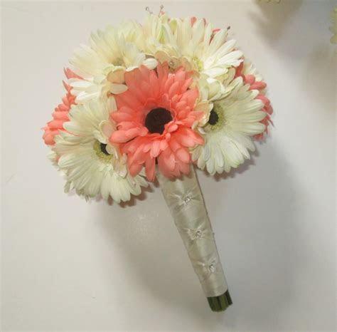 Gerbera Daisy Wedding Bouquet, Silk Wedding Bouquet