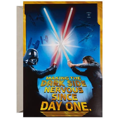 Star Wars? Young Jedi Birthday Sound Card With Light