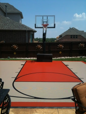 Photos Of Basketball Courts With Painted Line Striping