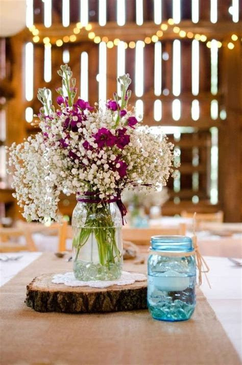 25  best ideas about Barn wedding centerpieces on
