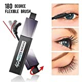 #2: 4D Silk Fiber Lash Wide Angle Brush Mascara,Waterproof, Warm water Removable, Dramatic Extension Longer, Thicker, Voluminous Eyelashes, Long-Lasting, Clump-free, Hypoallergenic Formula(Extrem Black)