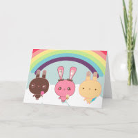 Adorable Bunny Card card