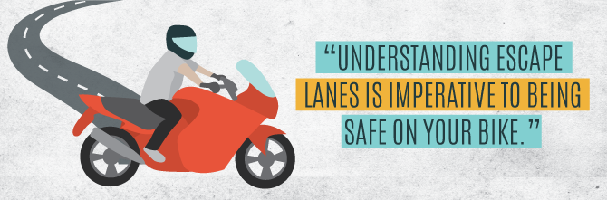 Understanding Escape Lanes is Imperative to Being Safe While Riding in City Traffic on Your Motorbike