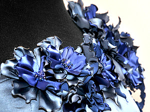 Цветы из ткани. Как можно красиво декорировать платье. | Ярмарка Мастеров - ручная работа, handmade