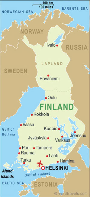 Finland Map And Finland Satellite Images