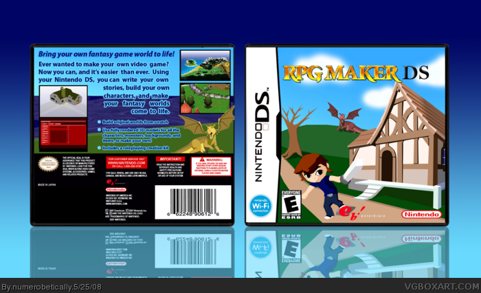 RPG Maker DS Nintendo DS Box Art Cover by numerobetically