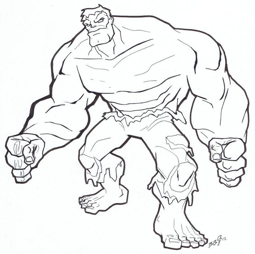 Hulk Para Colorir E Imprimir Muito Fácil Colorir E Pintar