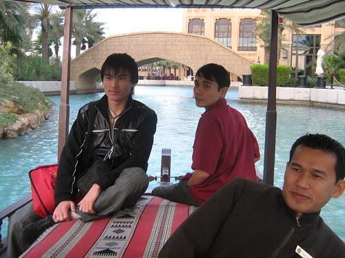 Kyrgyzstan and Kazakhstan filmmakers Akjoltoy Bekbolotov and Adilkhan Yerzhanov, on the boat