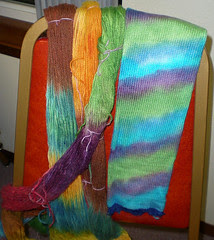Margie's dyed yarns and blank