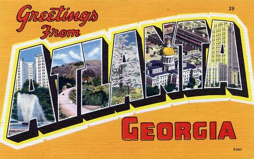 Greetings from Atlanta, Georgia - Large Letter Postcard