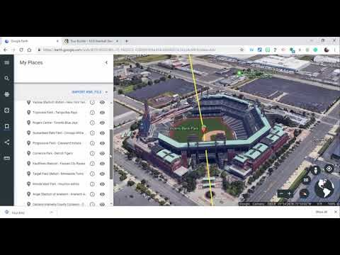 Google Earth Tour of all 30 Major League Baseball Team Stadiums created in Tour Builder