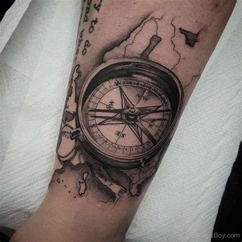 compass tattoos  forearm