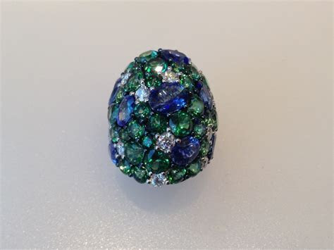 Diamond Ring With Multi Colored Gemstones   New Jersey