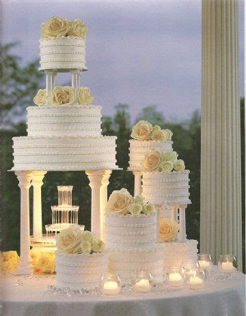 Fountain Wedding Cakes Photo