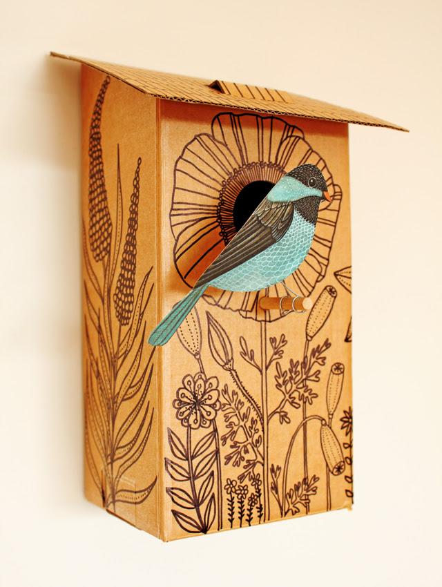 Cardboard Bird House