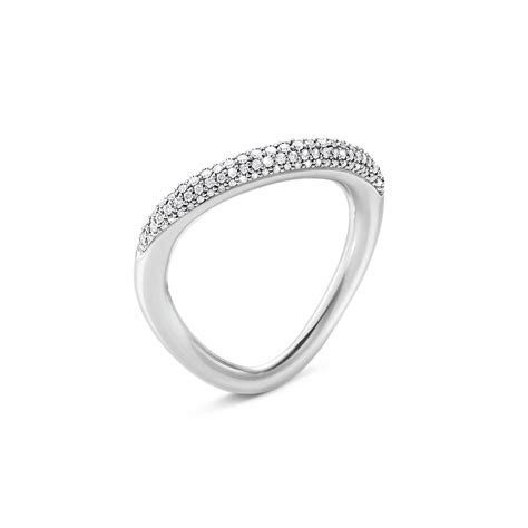 Georg Jensen Offspring sterling silver pave' diamond set