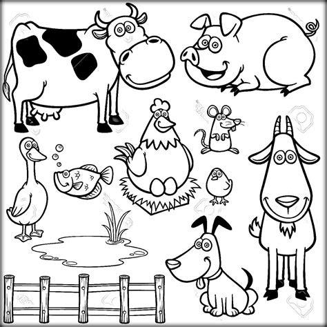 farm animal coloring pages  preschoolers funny farm