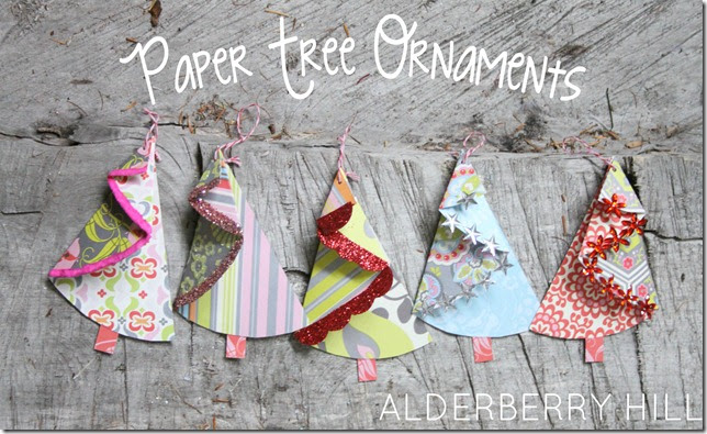 diy christmas tree handmade ornaments handmade paper ornaments how to make modern paper ornaments curbly diy design - Handmade Paper Christmas Decorations
