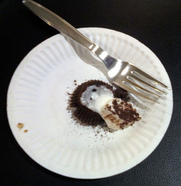 Molten lava cake... It looked a lot better in person. :)