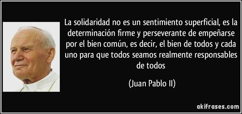 Frase de Juan Pablo II