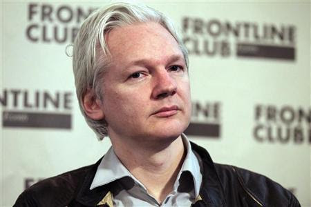 WikiLeaks founder Julian Assange speaks at a news conference in London, February 27, 2012.REUTERS-Finbarr O'Reilly