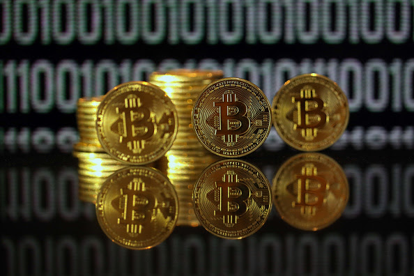 Bitcoins As Digital Currency's Rally Crushed Every Other Currency in 2016 : News Photo
