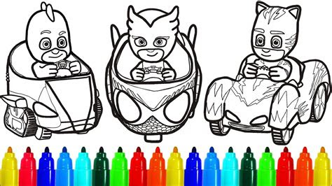 pj masks  cars coloring pages colouring pages  kids