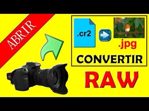 .RAW - Cómo abrir y ver fotos en formato CR2 (+Plus, convertir CR2 a JPG)