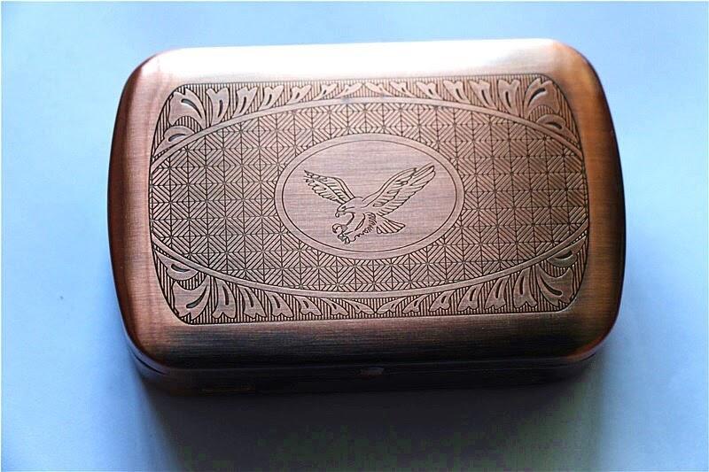 Retro Tabak Keukens : Goede koop brons metalen tabaksdoos pocket vintage kruid sigaret