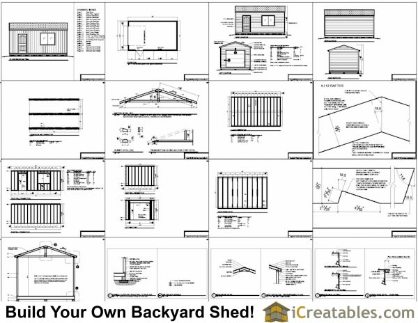Shed Plans 16x24 Free Section Sheds