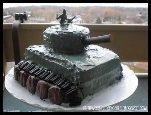 Army Tank Birthday Cake