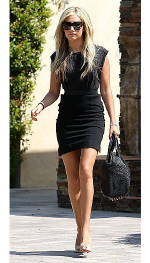 Ashley Tisdale wearing Free People Love City Ponte Dress