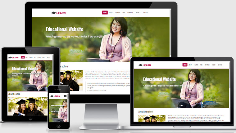 learn educational free responsive web template thumb