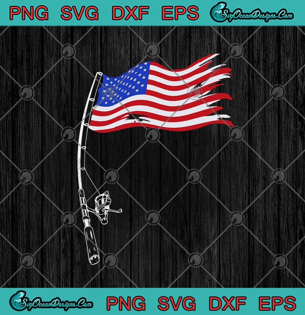Download Fishing Rod American Flag Funny Svg Png Eps Dxf Cricut File Silhouette Art Svg Png Eps Dxf Cricut Silhouette Designs Digital Download
