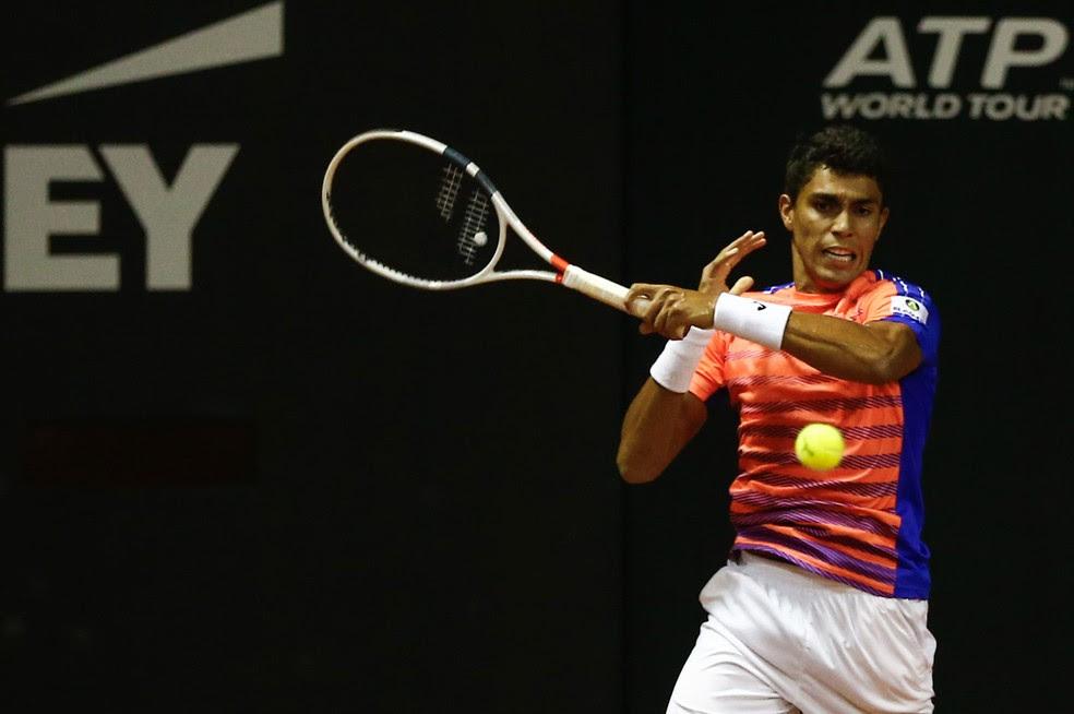 Thiago Monteiro em Indian Wells (Foto: Marcelo Zambrana/Divulgação)