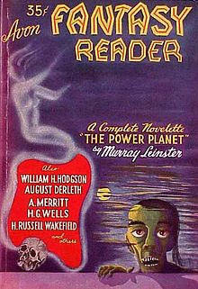 Cover of the first issue.  At the base of the, a zombie-like figure peering at the viewer over a wall or other flat object.  Other objects in the image are a skull, a distant full moon and a ghost-like figure emanating from a list of authors.