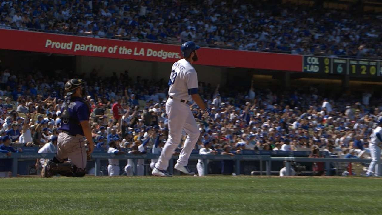 Con poder, Dodgers sellaron barrida vs. Rockies