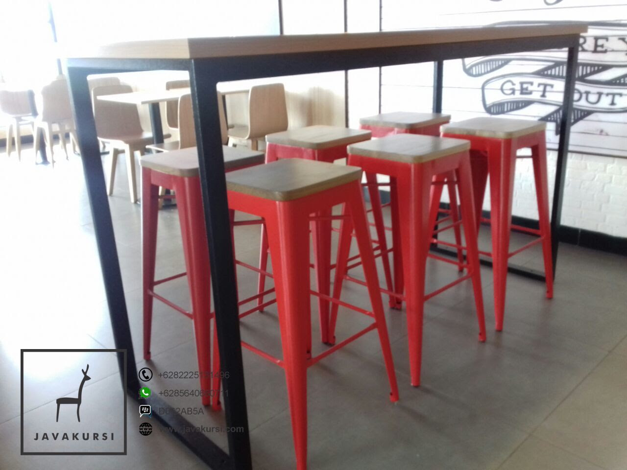 Kursi Meja Cafe Industrial Kaki Besi Jual Furniture Kursi Jepara