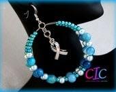 Ovarian Cancer Anti-bullying Awareness Hoop Earrings