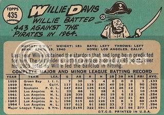 #435 Willie Davis (back)