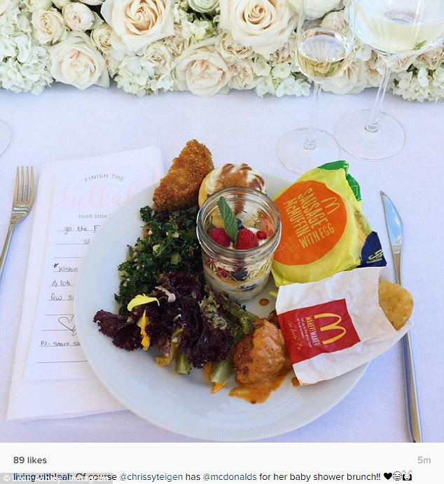 Delicious: The guests dined on fast food from McDonald's and Taco Bell
