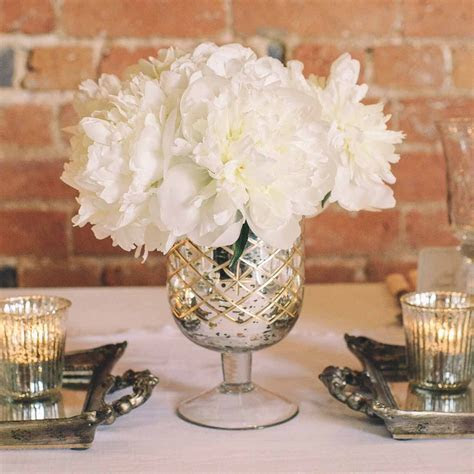 Mercury Silver Footed Vase Large ? The Wedding of My Dreams