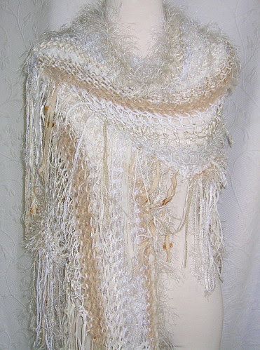 Studies in Cream and White - Shawl/Wrap