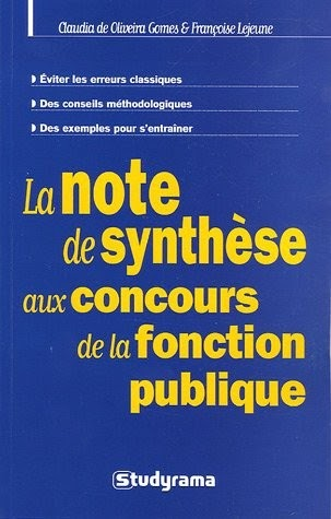 Exemple De Note De Synthese Fonction Publique