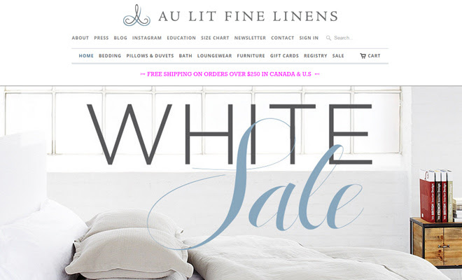 au lit fine linens website shopify