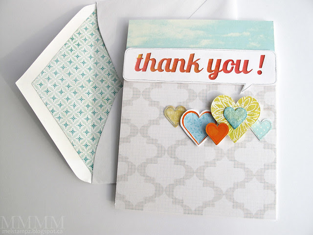 thank you speech bubble card