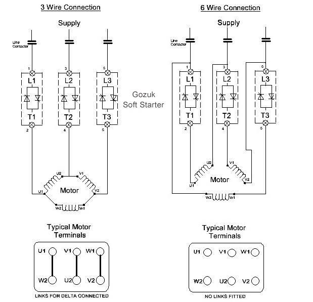 6 Lead Motor Starter Wiring Diagram