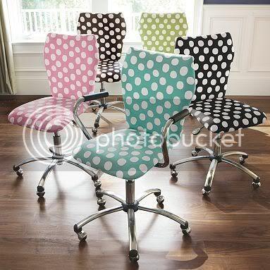 polka dot chairs